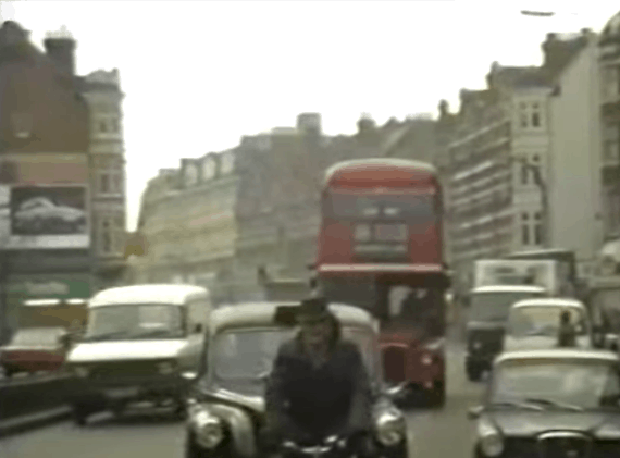 Routemasters on route 159 between Streatham and Brixton in 1987
