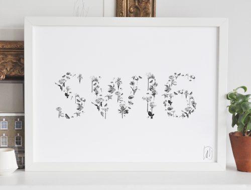 SW16 Thick White Frame Art Streatham London Artist