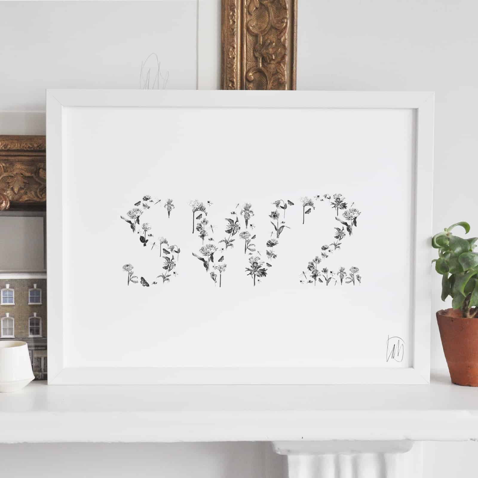 SW2 Thick White Frame Art Streatham London Artist