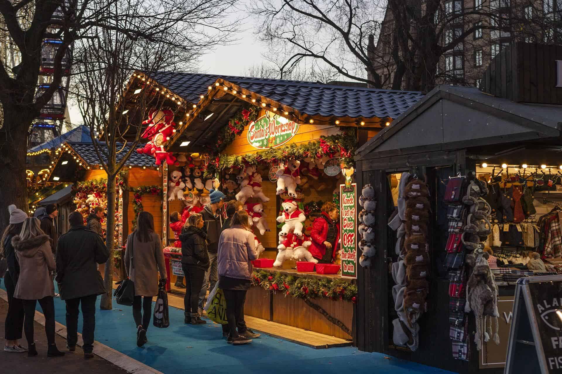 Santa's Grotto at a Christmas market
