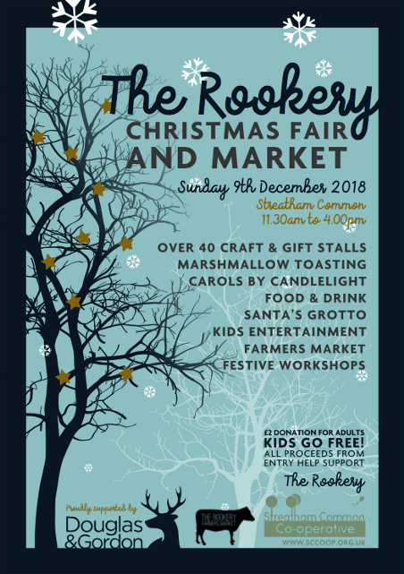 The Rookery Streatham Christmas fair & market - poster
