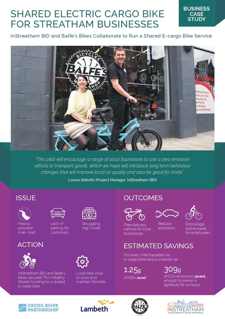InStreatham's Electric Cargo Bike Scheme now available to businesses!